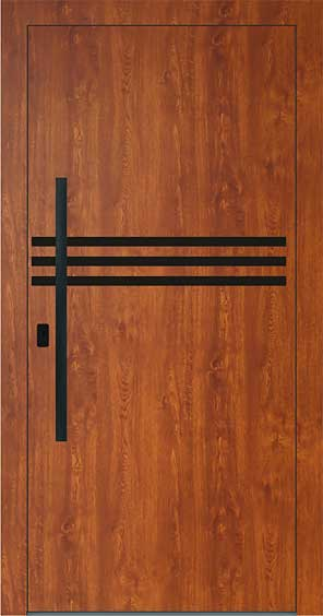 Hliníkové alebo plastové vchodové dvere designovej série Variable vyrobcu PERITO