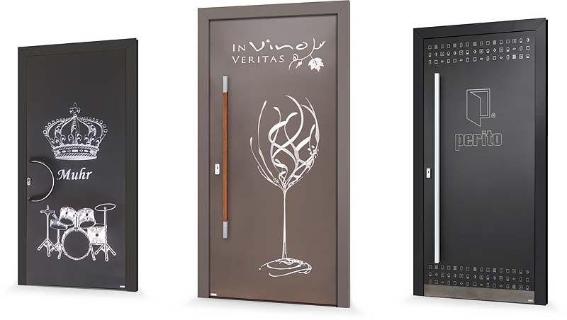 Ukázky realizací vchodových dveří PERITO s individuálním designem