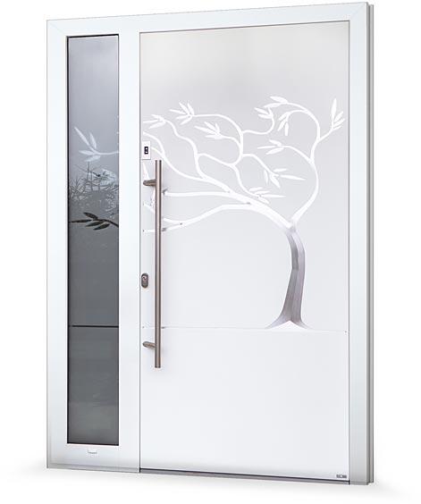 Ukázka realizace vchodových dveří PERITO s individuálním designem